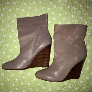 Michael Kors Cream Wedge Boots